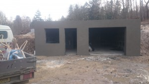 Fundament m/kælder til ny bygget hus
